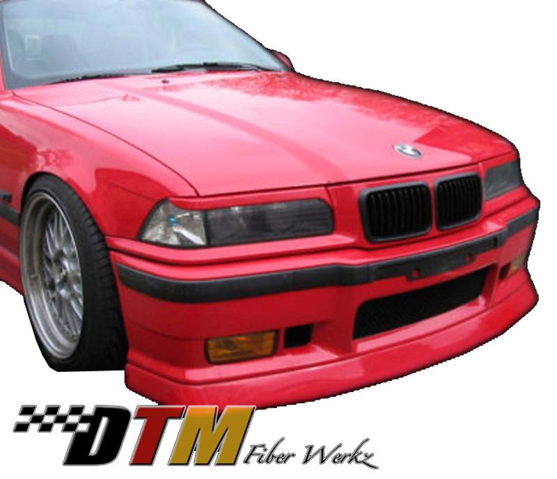 DTM Fiber Werkz BMW E30 DTM Style Front Lip View 1