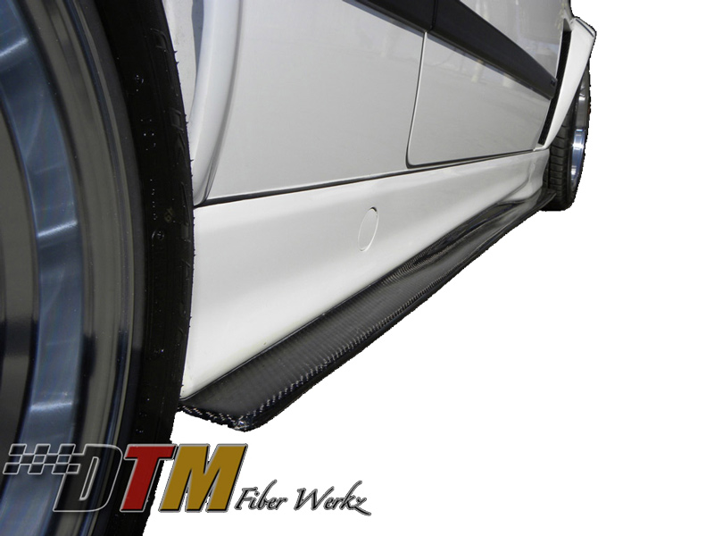 DTM Fiber Werkz BMW M3 GTR-S Side Skirt Diffuser Extensions View 3