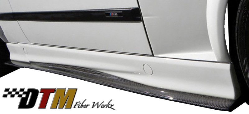 DTM Fiber Werkz BMW M3 GTR-S Side Skirt Diffuser Extensions View 4