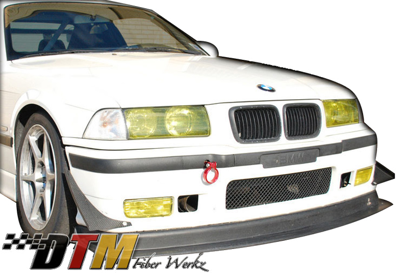 DTM Fiber Werkz BMW E36 M3 Race Front Lip with Undertray View 1