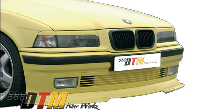 DTM Fiber Werkz BMW E36 RG Style Front Cup Lip Mounted 1