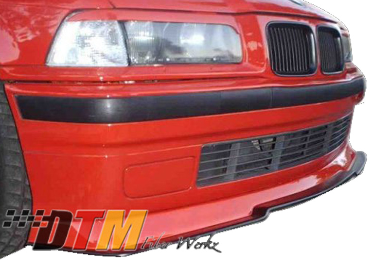 DTM Fiber Werkz BMW E36 RG Style Front Cup Lip Mounted 2