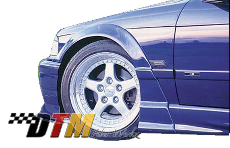 DTM Fiber Werkz BMW E36 RG Style Fender Flares View 2