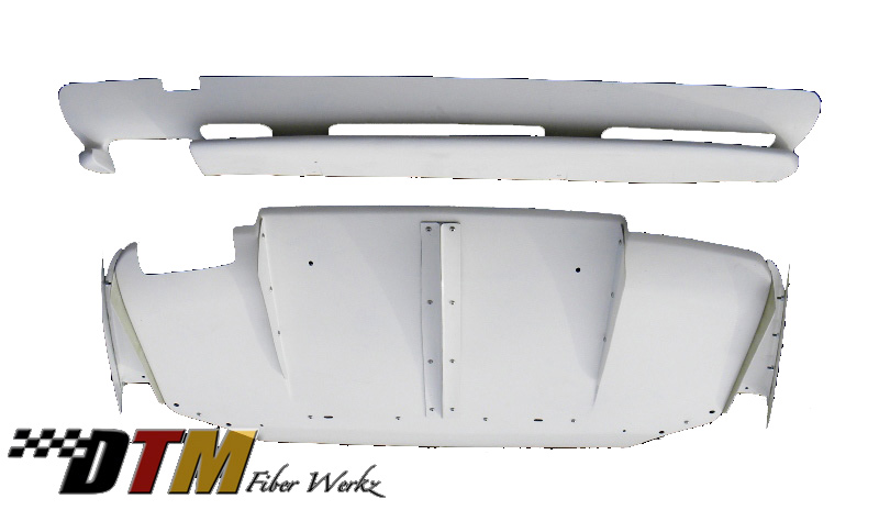 DTM Fiber Werkz BMW E36 M3 VRS Style Rear Diffuser Combo [FRP] View 1