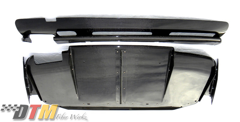 DTM Fiber Werkz BMW E36 M3 VRS Style Rear Diffuser Combo [CFRP] View 2