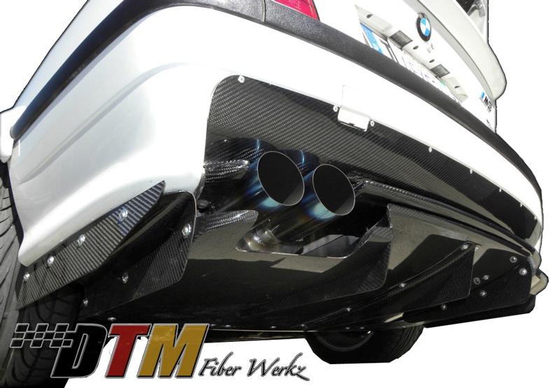 DTM Fiber Werkz BMW E36 M3 VRS Style Rear Diffuser Combo [CFRP] View 3