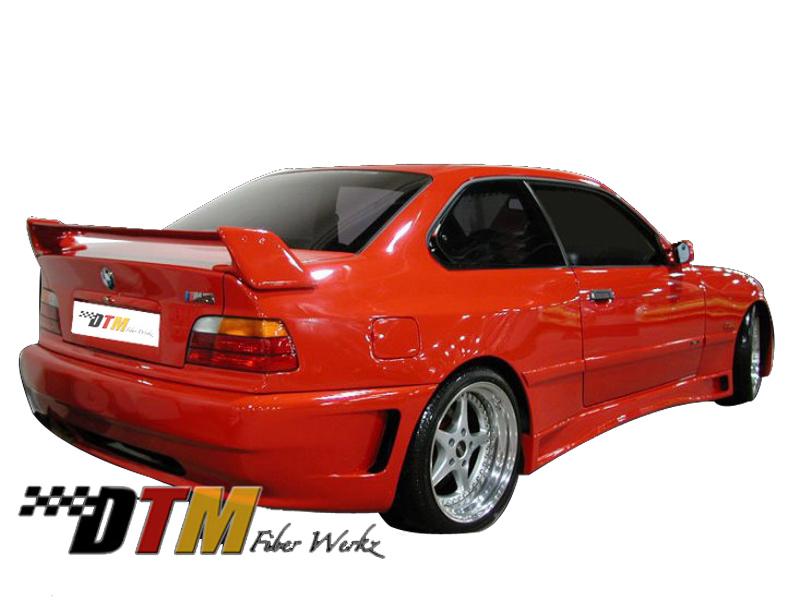 DTM Fiber Werkz BMW E36 Z-Max Widebody Kit Mounted View 2