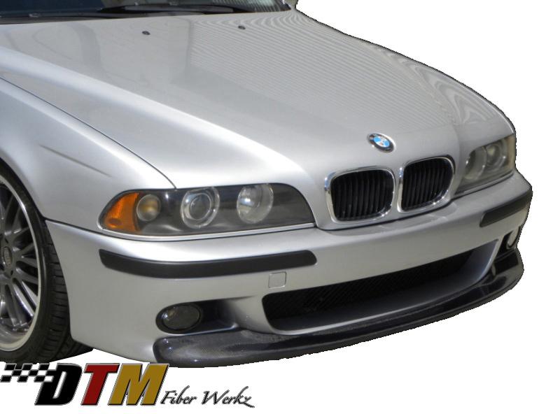 DTM Fiber Werkz BMW E39 5-Series CSL Style Front Lip CFRP Mounted 1