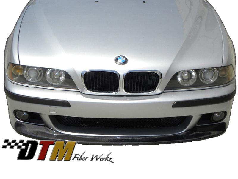 DTM Fiber Werkz BMW E39 5-Series CSL Style Front Lip CFRP Mounted 2
