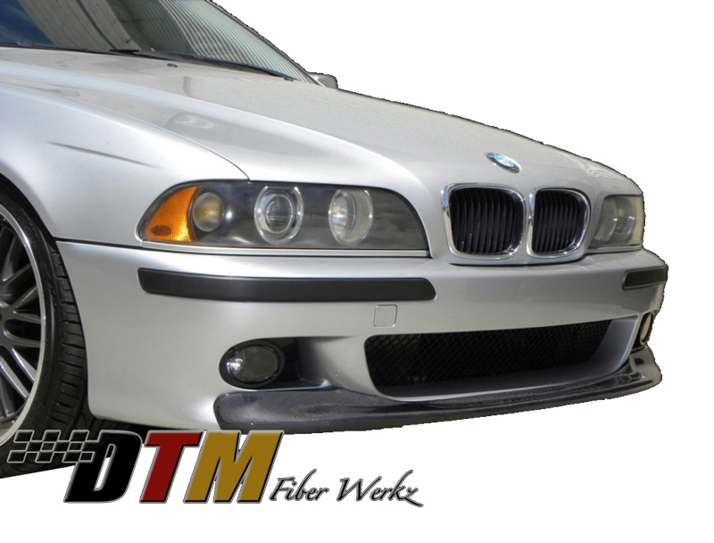 DTM Fiber Werkz BMW E39 5-Series CSL Style Front Lip CFRP Mounted 3