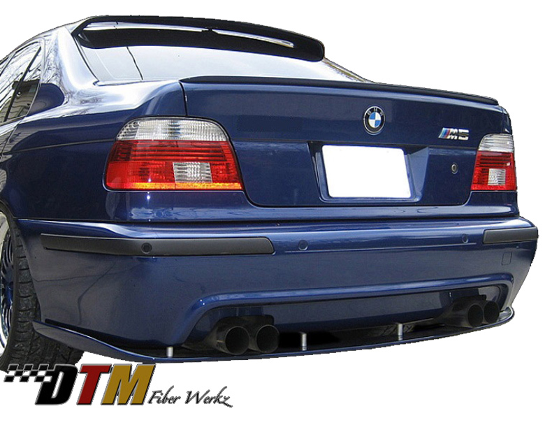 DTM Fiber Werkz BMW E39 M5 HM style Rear Lower Diffuser View 2