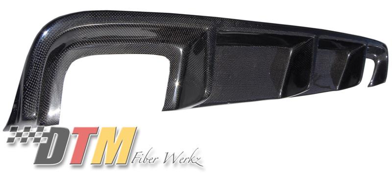 DTM Fiber Werkz BMW E39 5-Series DTM Style Rear Diffuser Dual Exhaust Unmounted in Carbon Fiber 2
