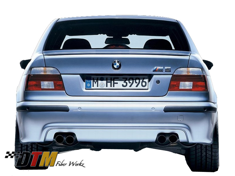 DTM Fiber Werkz BMW E39 M5 Replacement Style Rear Bumper Mounted