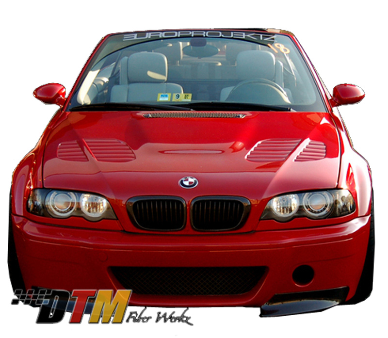DTM Fiber Werkz BMW E46 CSL V1 Style Front Bumper View 1