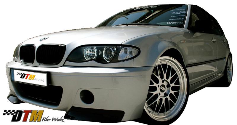 DTM Fiber Werkz BMW E46 CSL V1 Style Front Bumper View 2