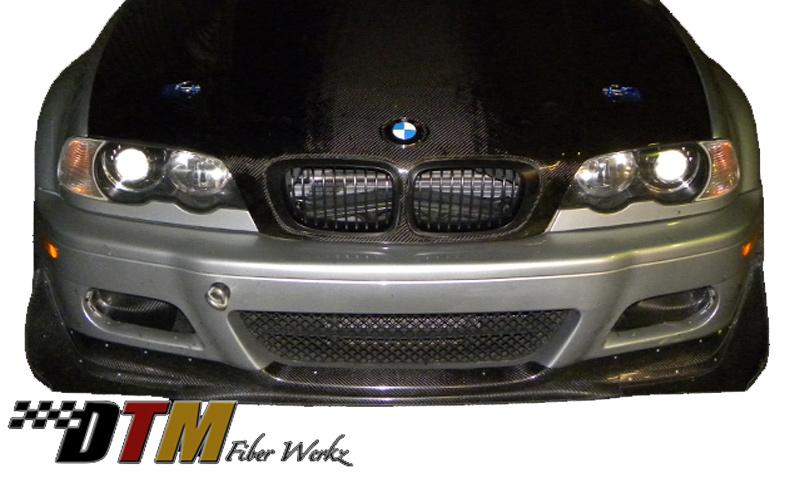 DTM Fiber Werkz BMW E46 M3 Front Canards View 1
