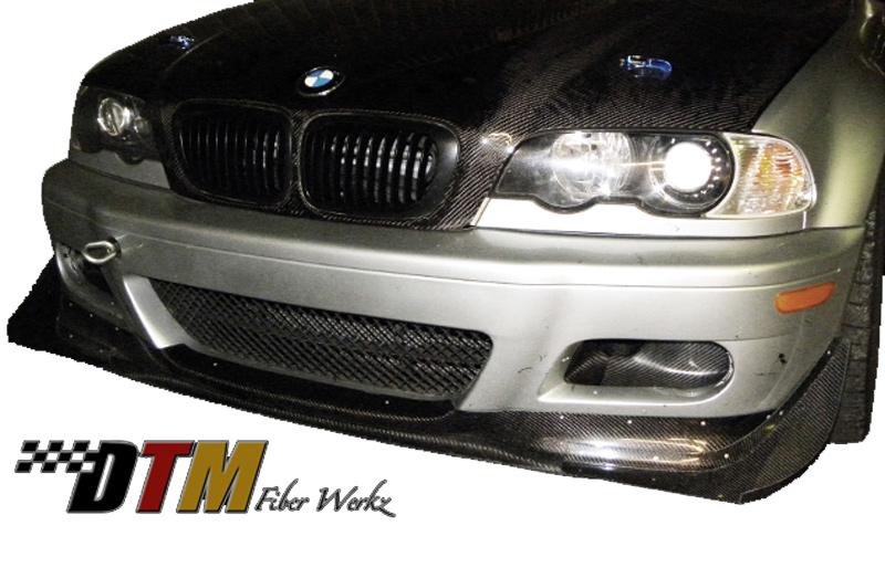 DTM Fiber Werkz BMW E46 M3 Front Canards View 2