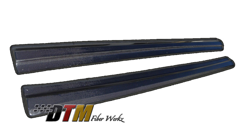 DTM Fiber Werkz BMW E46 Side Diffuser Extensions In Optional Carbon Fiber