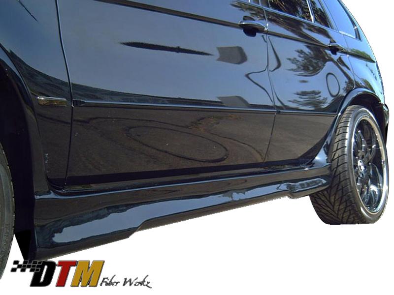 DTM Fiber Werkz BMW E53 X5 E39 M5 Style Rear Bumper View 2