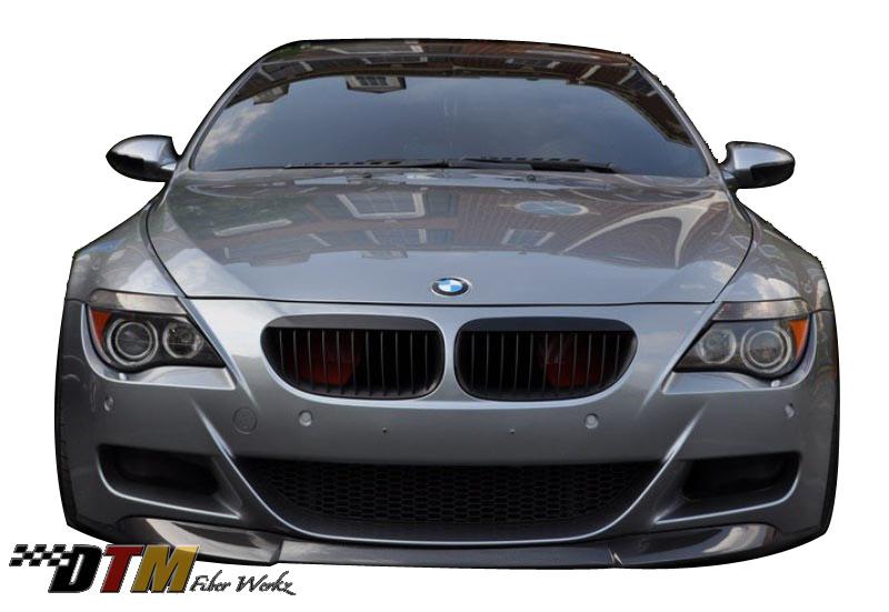 DTM Fiber Werkz BMW E63/E64 M6 VRS Style Front lip View 1