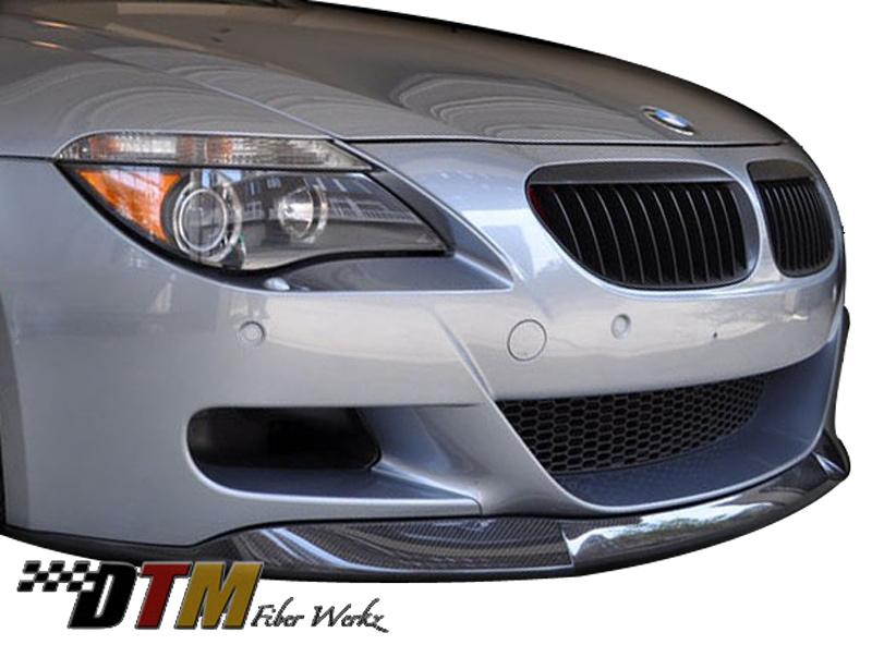 DTM Fiber Werkz BMW E63/E64 M6 VRS Style Front lip View 2
