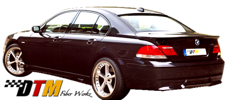 DTM Fiber Werkz BMW E66 7-Series ACS Rear Apron View 4