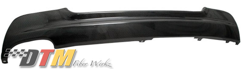 DTM Fiber Werkz BMW E92 Mtech Rear Diffuser Single Outlet