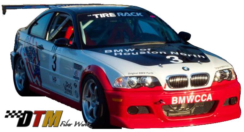 DTM Fiber Werkz BMW E46 M3 ACS Front Lip View 2