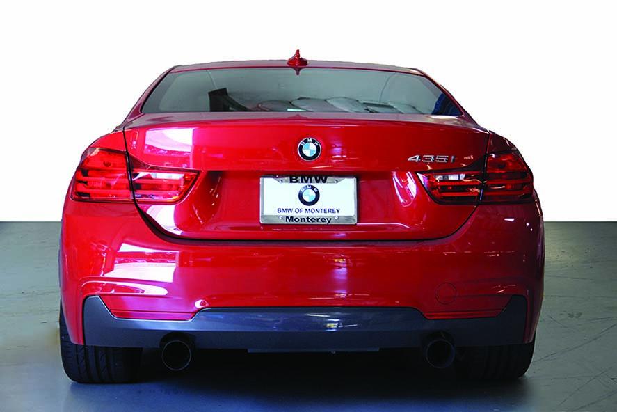 Dinan Free Flow Exhaust w/ Black Ceramic Tips Installed BMW 435i (2)