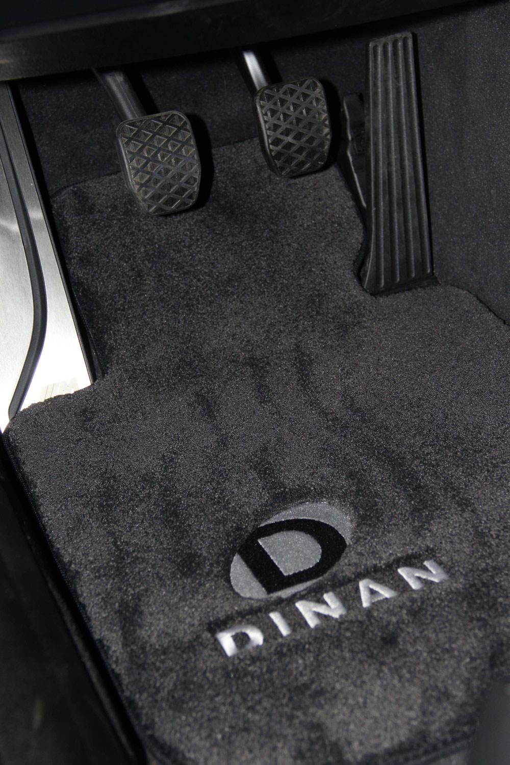 dinan signature floor mats close up