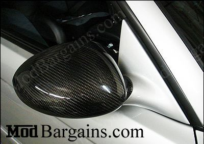 BMW E46 M3 Carbon Fiber Mirror Covers @ ModBargains.com