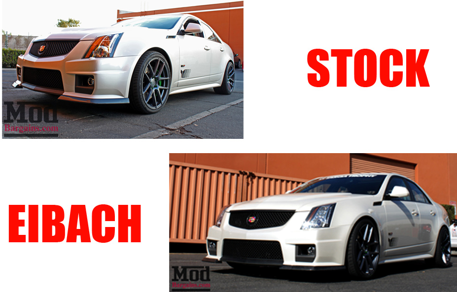 Eibach Pro Kit Springs for Cadillac CTS-V vs Stock