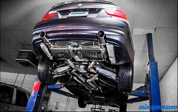 BMW 335I Horsepower >> Eisenmann Axle Back Exhaust for 07012 BMW 335i/xi