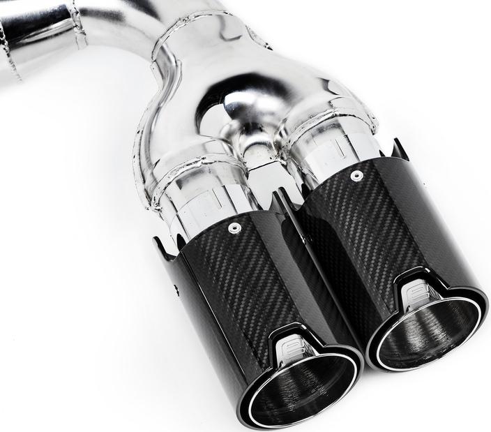 Eisenmann Race Exhaust w/ 90mm Carbon Fiber Tips (3)