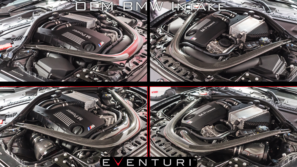 BMW M3/M4 F8X OEM Intake vs Eventuri EVE-F8XM-MT-INT