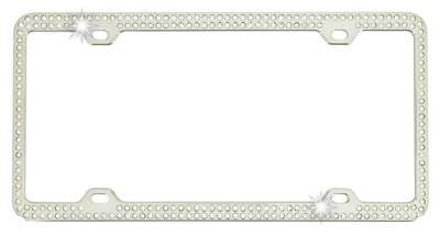 Buy Mosaic Crystals License Plate Frame @ ModBargains.com