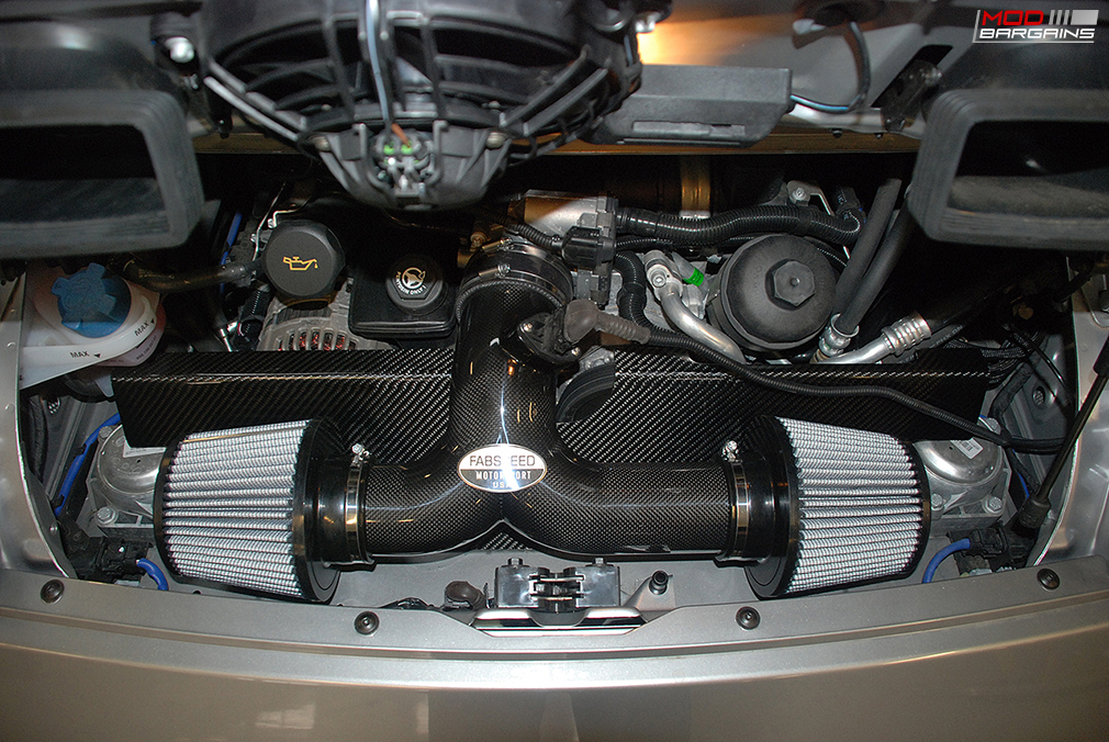Fabspeed Carbon Fiber Competition Intake System Installed on 2009 Porsche 997.2