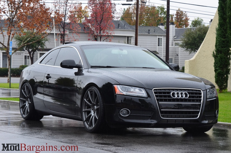 Forgestar CF10 Gloss Gunmetal on Black B8 Audi S5