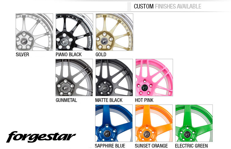 Forgestar F10D Wheel Custom Finishes