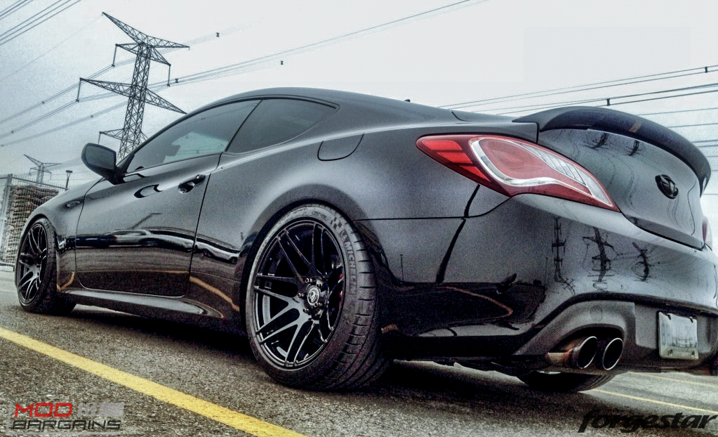 Forgestar F14 Gloss Black On Hyundai Genesis Coupe