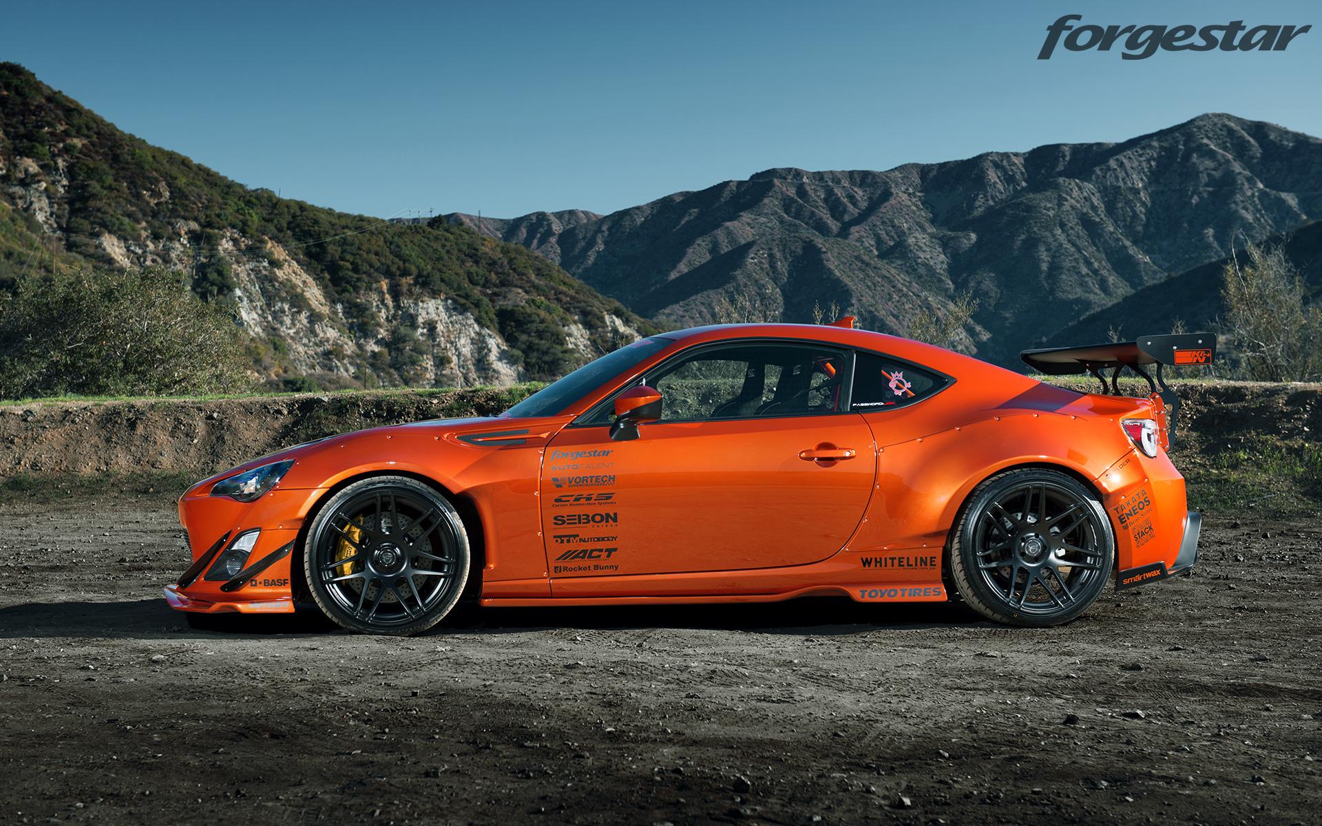 Forgestar 18x95 18x11 Gloss Black F14 Wheels For Rocket Bunny Scion FR S Subaru BRZ