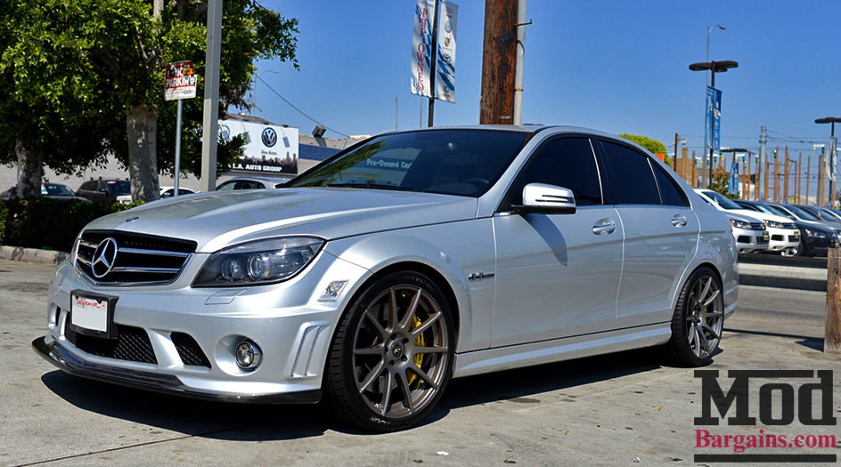 Forgestar CF10 Wheels on Mercedes Benz W204 AMG at ModBargains.com Installed 1
