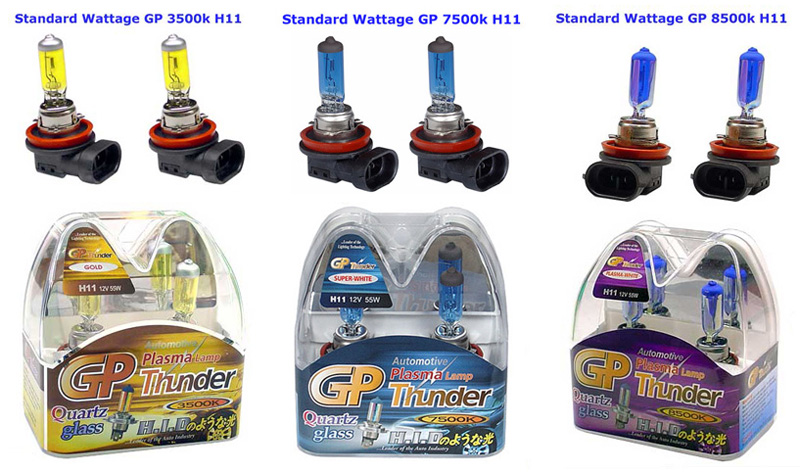 GP Thunder H11 7500k Fog Light Bulb Chart