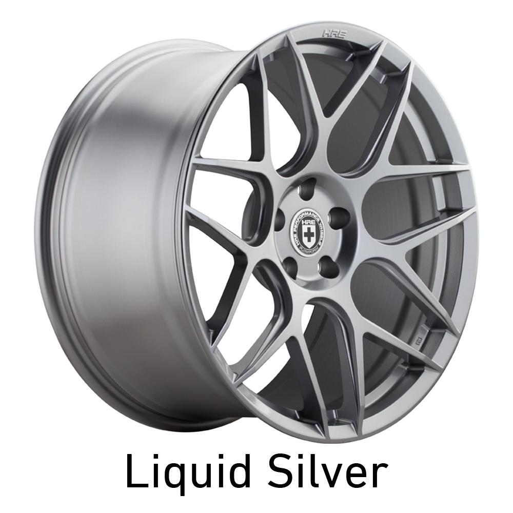 HRE FF01 Wheels in Liquid Silver