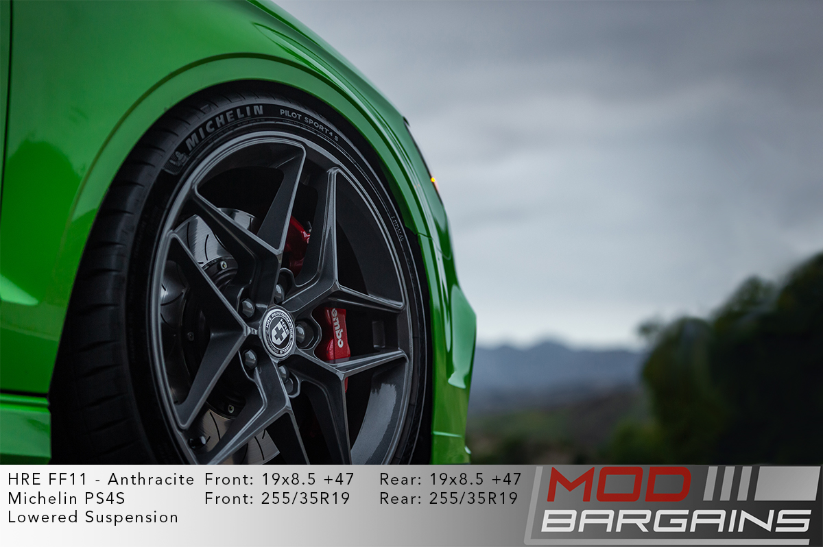 Green Audi S3 8V on HRE FF11 Wheels in Anthracite