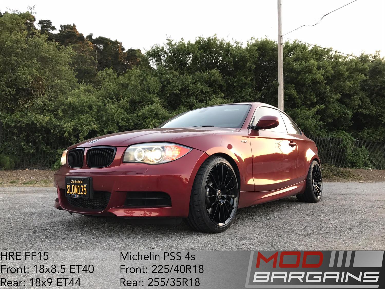 HRE Tarmac Black FF15 BMW 135i E82