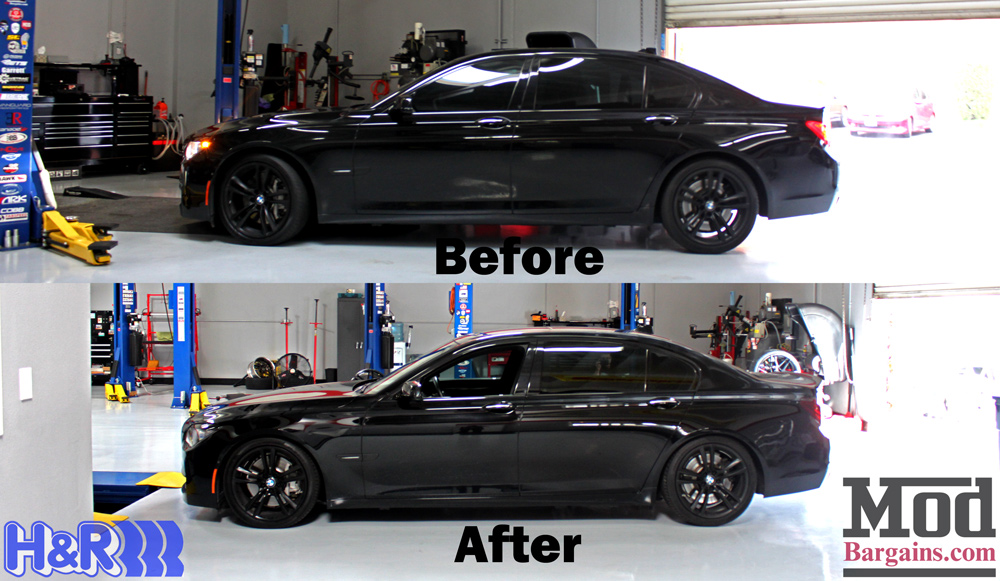 5fc73af596ff Improve your handling and appearance with a set of H R sport springs for  your BMW F02 750Li.