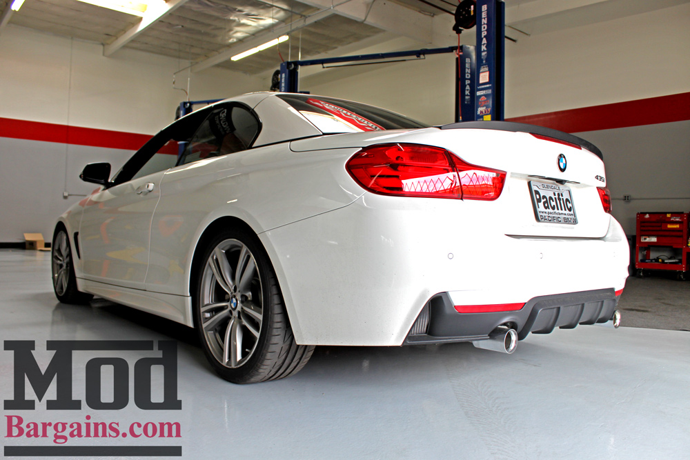 H&R Sport Springs Installed on F33 BMW 435i at ModBargains shop ModAuto