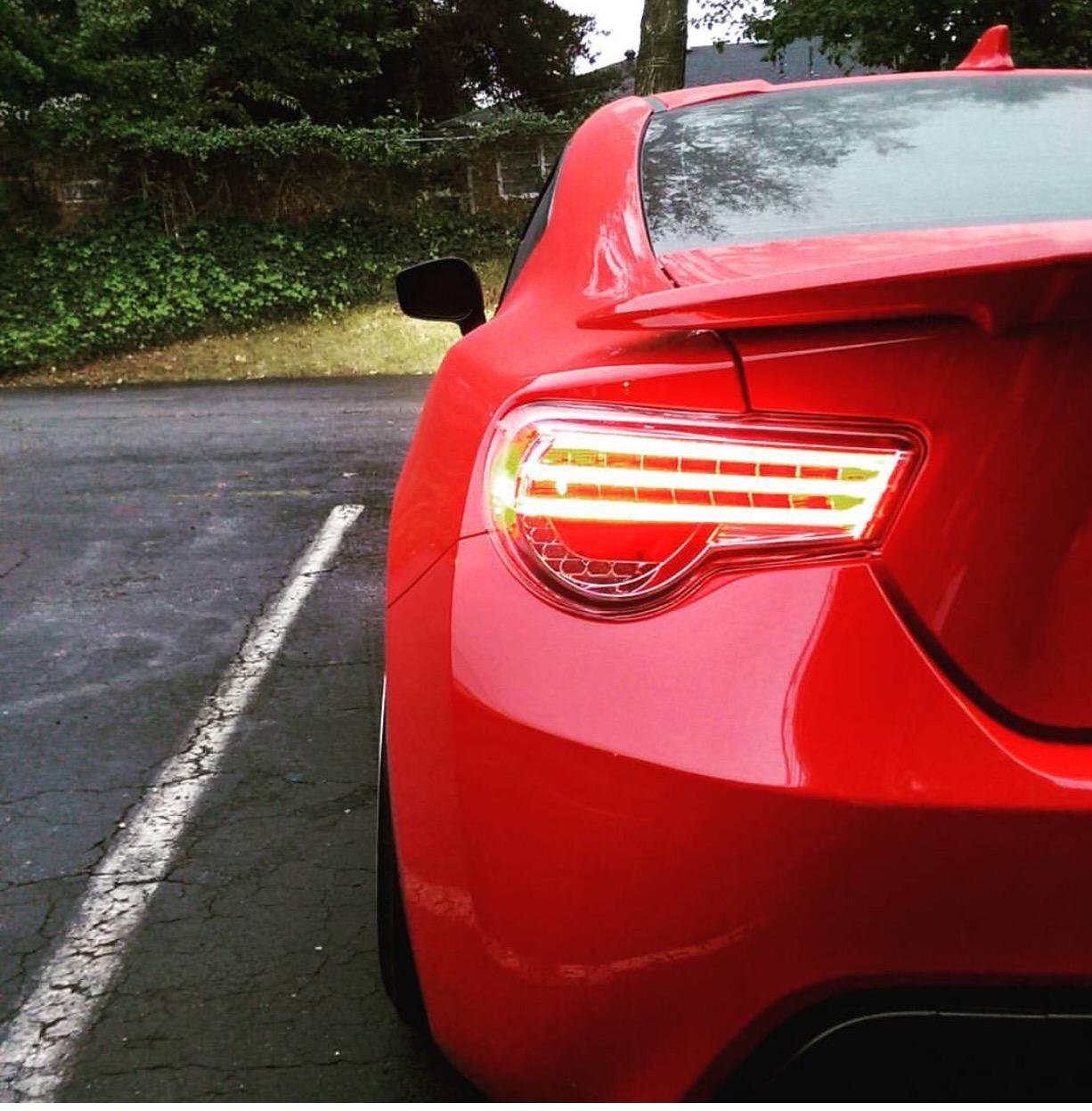 Tri Bar Clear Lens Helix Depo LED TailLights For FRS BRZ HTYF86TL-3CC