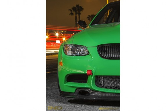 Front Tow Hook Cover Installed for 2007+ BMW M3 E9X